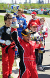 Victory in  go-cart racing Stock Photography