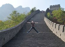 Victory on great wall Stock Image