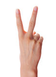 Victory hand gesture Stock Photography