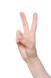 Victory hand sign Royalty Free Stock Photos