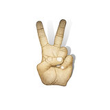 Victory hand sign paper Stock Photography