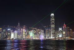 Victory Harbour light show. Hong Kong Royalty Free Stock Image