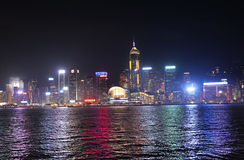 Victory Harbour by night, Hong Kong Stock Image