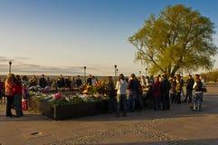 A victory holiday in Nizhny Novgorod in Russia Royalty Free Stock Photo