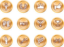 Victory Icons Stock Image