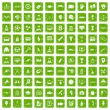 100 victory icons set grunge green. 100 victory icons set in grunge style green color isolated on white background vector illustration vector illustration