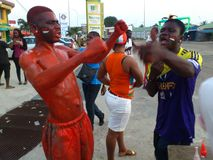 Victory of the Ivory Coast of elephants at the African Cup of Nations 2015 Stock Images