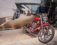 2014 Victory Jackpot, demostración de la motocicleta de Michigan Foto de archivo