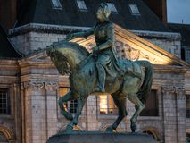 The victory of Jeanne d`arc stock photos