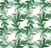 Victory  Laurel Welcome Wreath seamless background pattern. Watercolor Textured  Welcome wreath classic on a linen ground Royalty Free Stock Photography