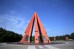 Victory Memorial et flamme éternelle à Chisinau, Moldau Photographie stock libre de droits