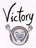 Victory message Royalty Free Stock Photography