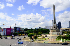AT Victory Momument The BTS One of land Mark in Captital city of thailand. Royalty Free Stock Photos