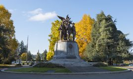 Victory Monument alata in Olimpia, WA Immagini Stock Libere da Diritti