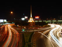 Victory Monument, Bangkok. Victory Monument by night. Aka Anu Sawalee. Bangkok, Thailand. The monument was erected in June 1941 to commemorate the Thai victory Stock Images