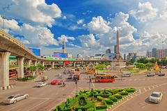 Victory Monument in Bangkok stock photography