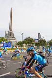 """Victory Monument, Bangkok, Thailand ,AUG 16-2015: """"Bike for Mom"""" Royalty Free Stock Images"""