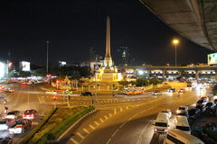 Victory Monument, bangkok, thailand. Victory Monument during night time in Bangkok, Thailand Stock Photography