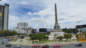 The Victory Monument, Bangkok, Thailand. stock footage