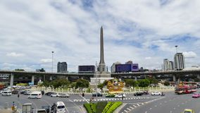 The Victory Monument, Bangkok, Thailand. Time Lapse. stock video