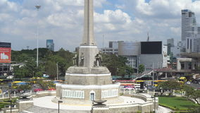 Victory Monument in Bangkok stock video footage