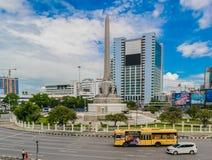 Victory Monument Center av Bangkok Thailand Royaltyfria Bilder