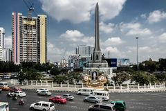 Victory Monument Circle royaltyfria bilder