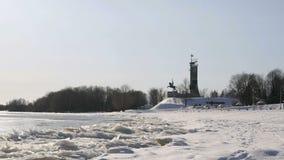 Victory Monument en Velikiy Novgorod, Rusia almacen de metraje de vídeo
