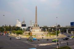 Victory Monument na cidade de Banguecoque, Tailândia fotografia de stock