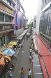 Victory Monument street view in  thailand. Royalty Free Stock Photography