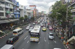 Victory Monument street view in  thailand. Royalty Free Stock Photos