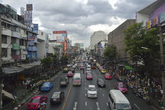 Victory Monument street view in  thailand. Royalty Free Stock Photo