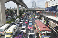 Victory Monument street view in  thailand. Stock Image