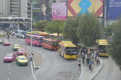 Victory Monument street view in  thailand. Stock Images
