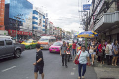 Victory Monument street view in  thailand. Royalty Free Stock Images