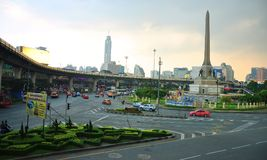 Victory Monument in Bangkok, Thailand. Victory Monument Thai: อนุสาวรีย์ชัยสมรภูมิ, Anusawari Chai Samoraphum is a large Stock Photos