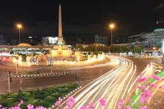 Victory Monument. Thailand the traffic jam royalty free stock images