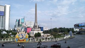 Victory monument stock photo