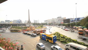 Victory Monument. Timelapse at Victory Monument,Bangkok stock footage