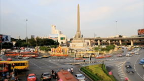 Victory Monument. Timelapse view over the Victory Monument area stock video