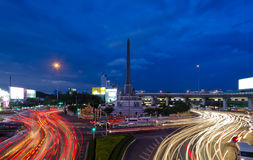 Victory Monument. Traffic at Victory monument Bangkok Thailand Stock Images