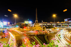 Victory Monument transportation hubs in Bangkok, Thailand Stock Photo
