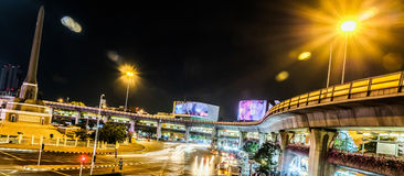 Victory Monument transportation hubs in Bangkok, Thailand Royalty Free Stock Photography