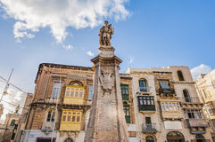Victory Monument at Vittoriosa Square in Birgu, Malta Royalty Free Stock Image