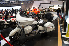 Victory motorcycle white side view Stock Image