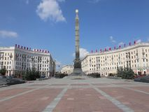 Victory Obelisk on the Victory Square in Minsk stock video footage