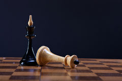 Victory over king Queen in chess Stock Photography