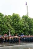 Victory Parade à Donetsk Défilé militaire consacré au soixante-dixième Photo stock