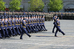 Victory parade. Soldiers on the Victory Parade. May 9th, 2009. Moscow. Red square Stock Photo