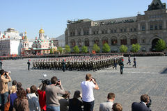 Victory parade stock image